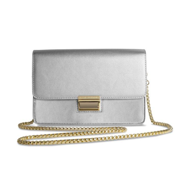 Anya Box Bag | Metallic Silver