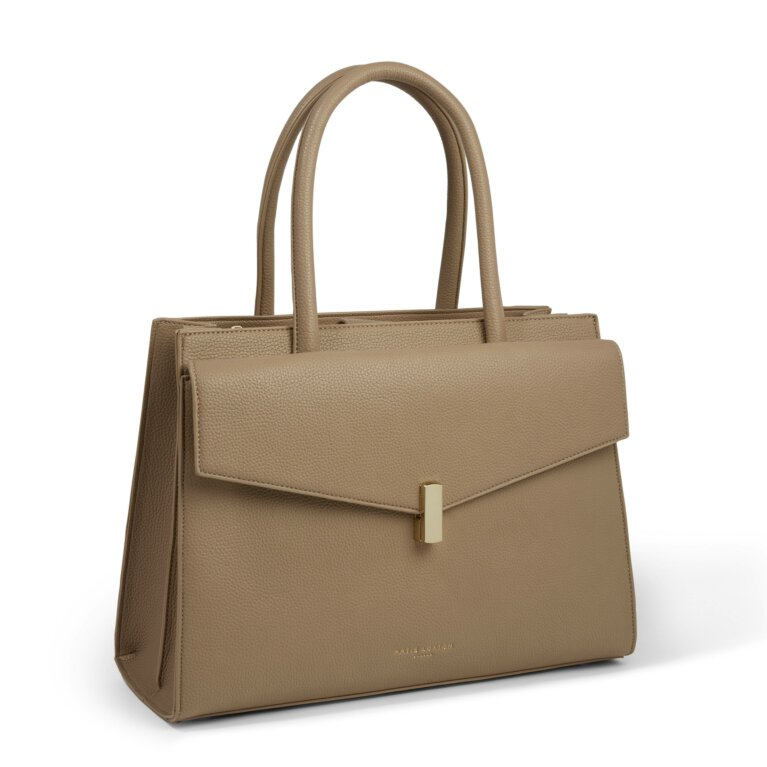 Casey Shoulder Purse in Taupe
