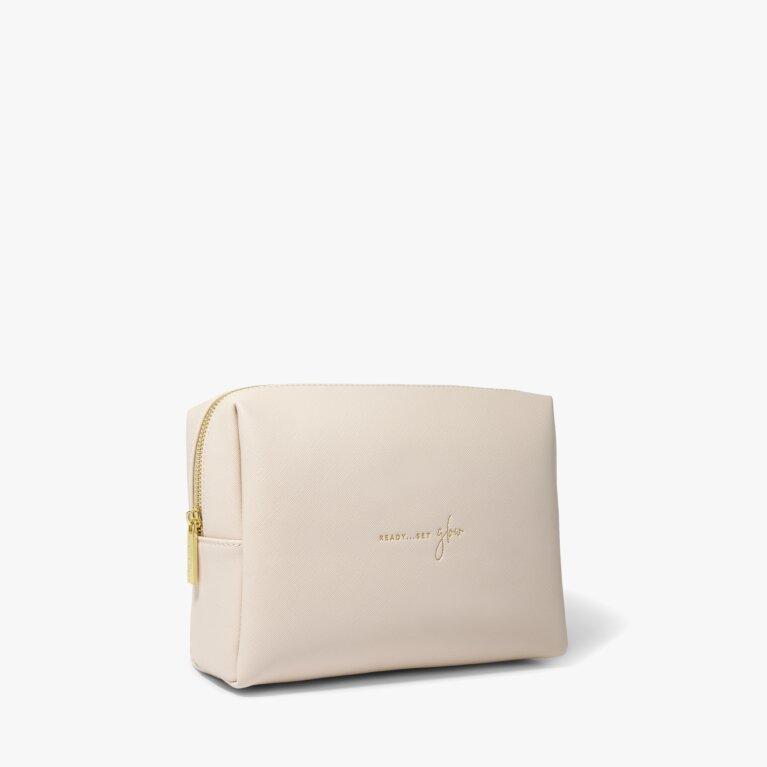 Wash Bag Ready Set Glow in Pale Pink
