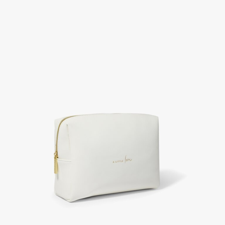 Wash Bag A Little Love in White