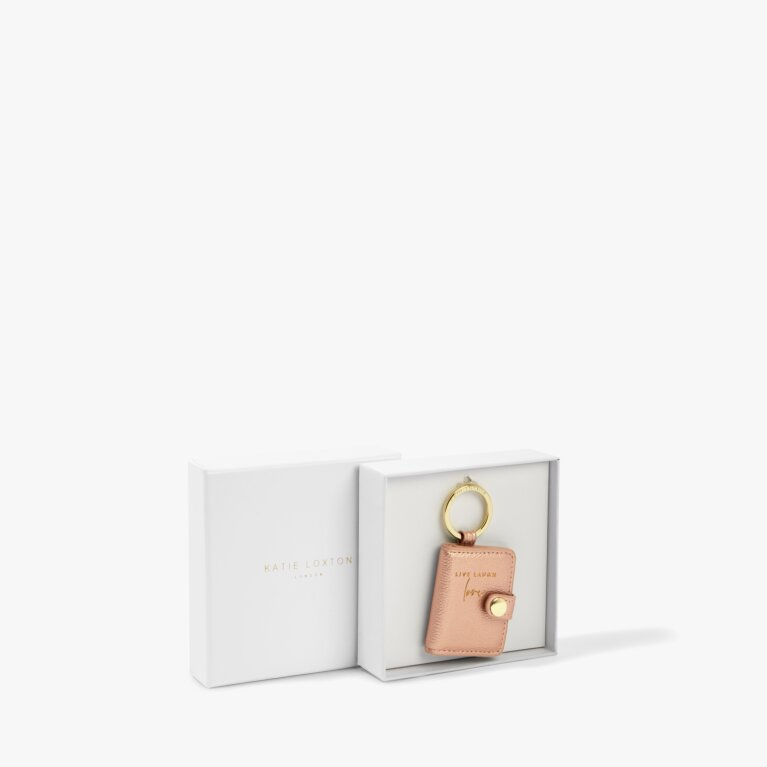 Photo Keyring Live Laugh Love in Rose Gold