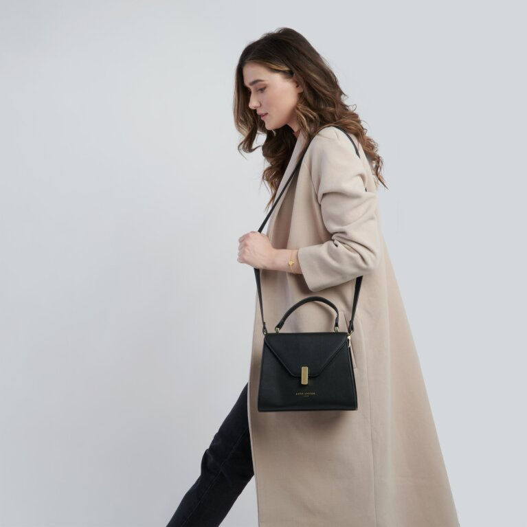 Casey Top Handle Bag Sustainable Style in Black
