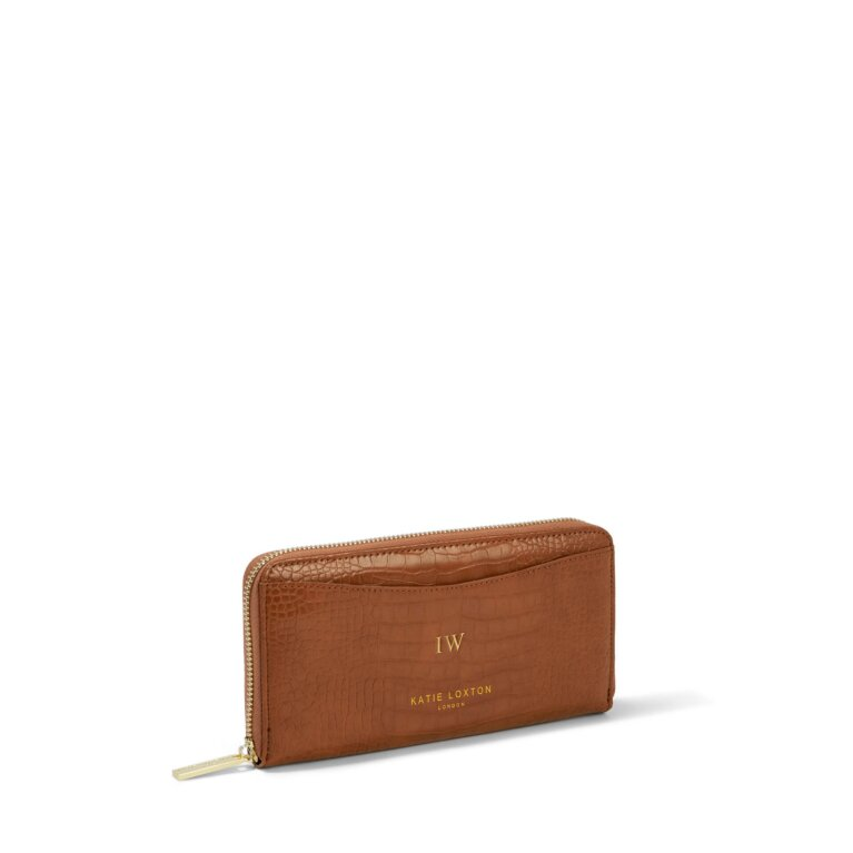 Cara Curve Wallet in Cognac
