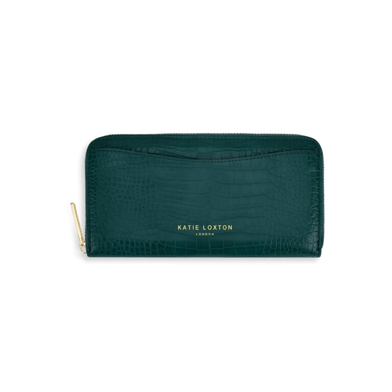 Cara Curve Wallet in Forest Green