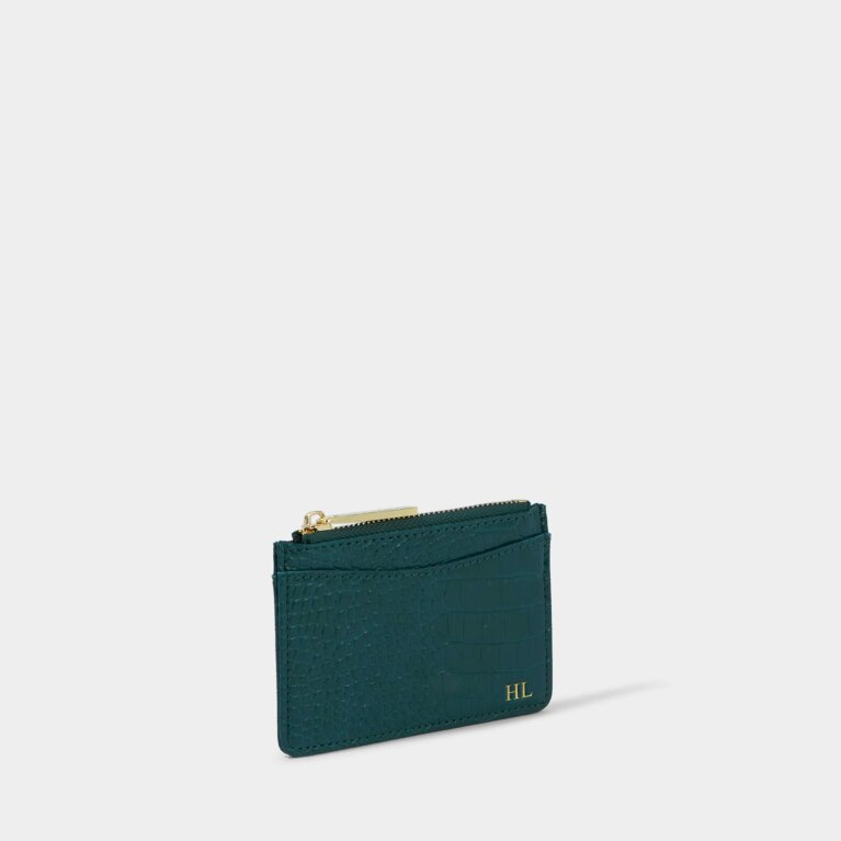Cara Curve Cardholder in Forest Green