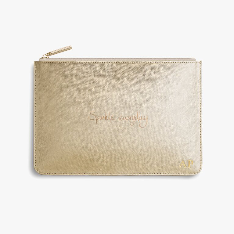 Perfect Pouch Sparkle Everyday In Metallic Gold