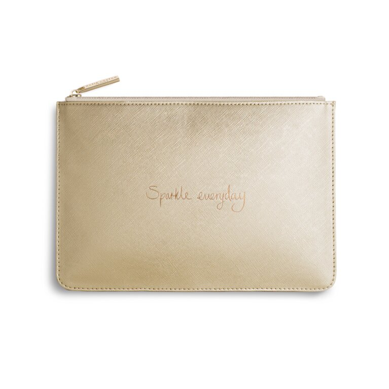 Perfect Pouch | Sparkle Everyday | Metallic Gold