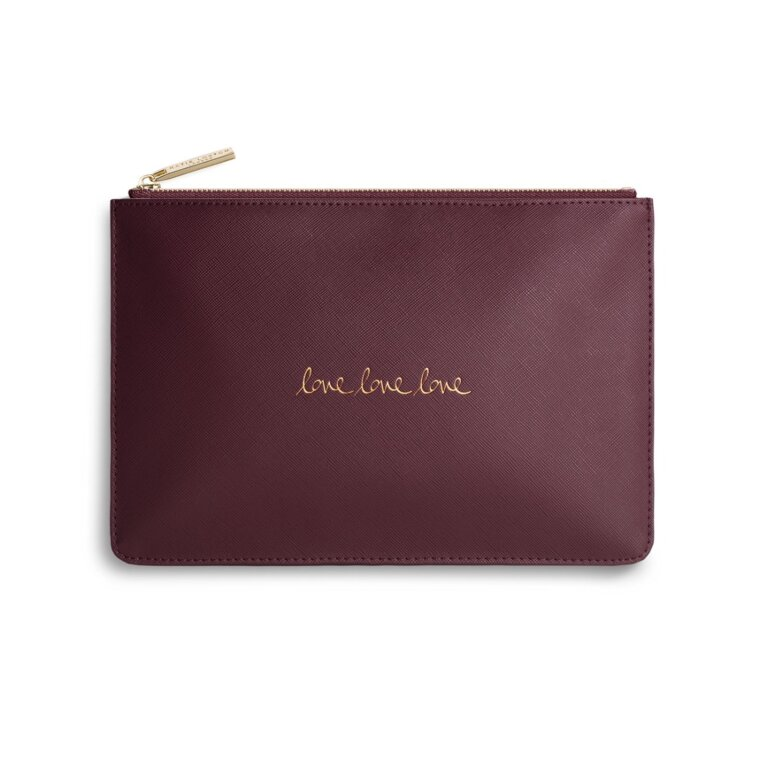 Perfect Pouch | Love Love Love | Burgundy