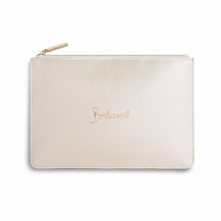 Perfect Pouch | Bridesmaid | Metallic White