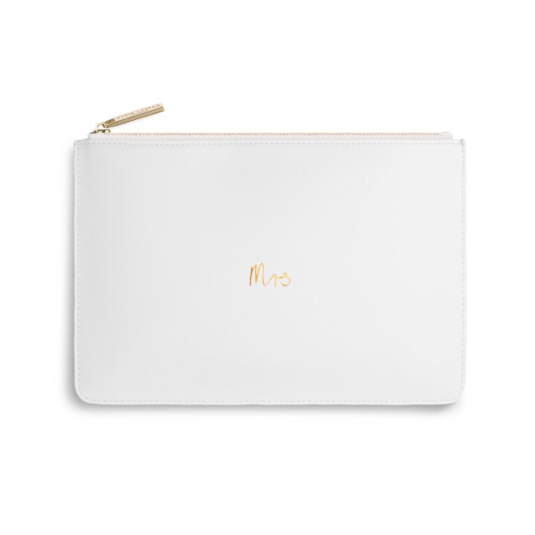 Perfect Pouch | Mrs | White