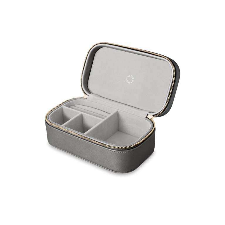 Travel Jewelry Box | All That Glitters | Metallic Charcoal