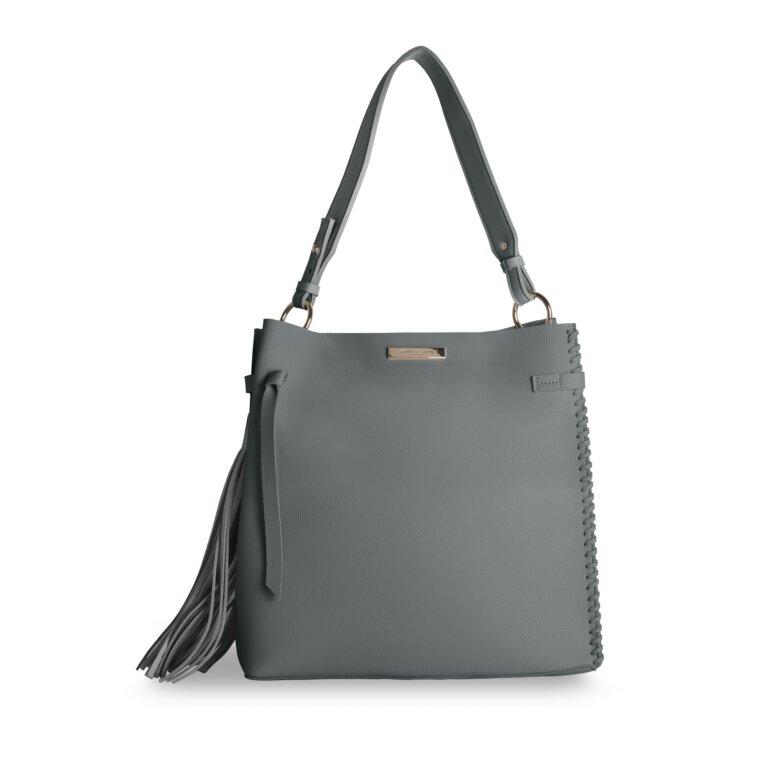 Florrie Day Bag | Tassel Detail | Charcoal
