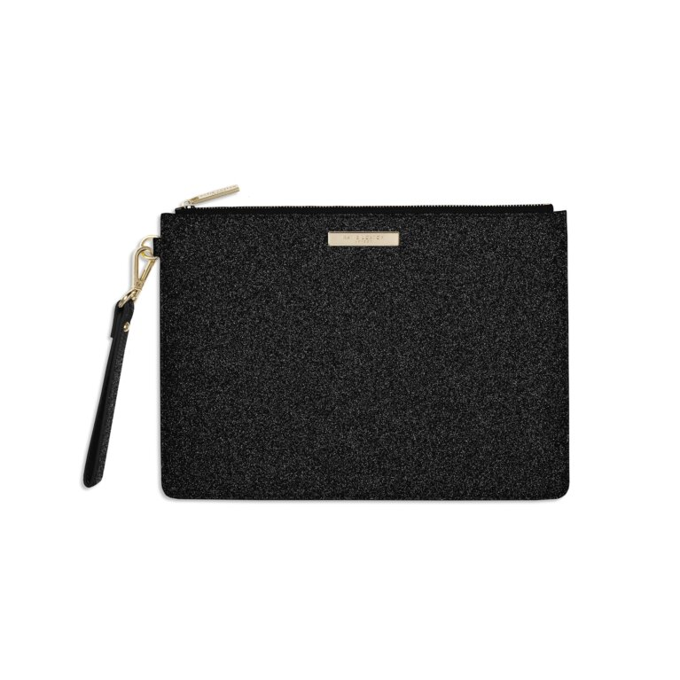 Stardust Clutch Bag | Sparkly Black