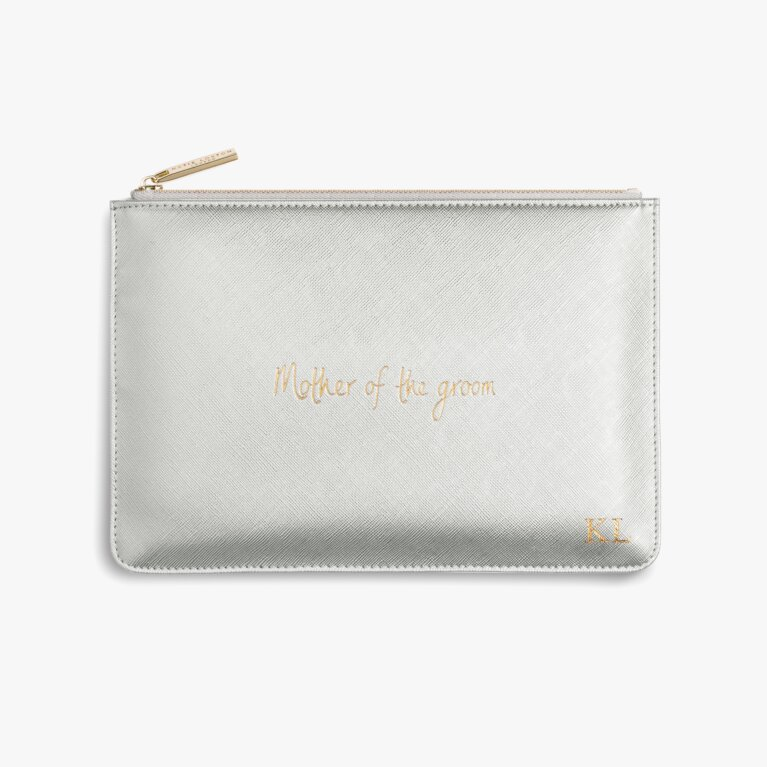 Perfect Pouch Mother Of The Groom In  Metallic Silver