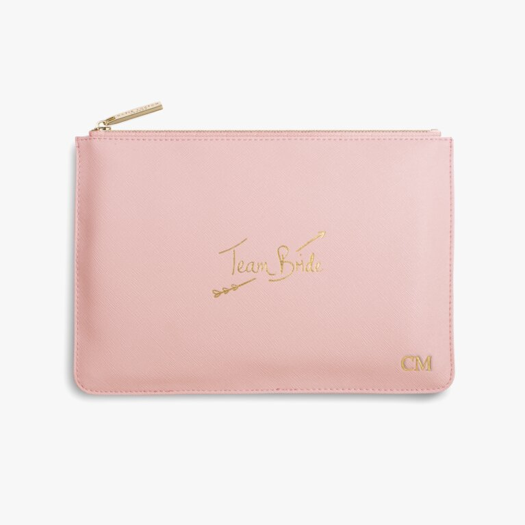 Perfect Pouch Team Bride In Pink