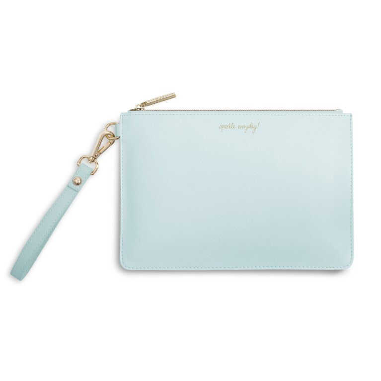 Secret Message Pouch | Sparkle Everyday, Leave a little Sparkle Wherever You Go! | Pale Blue