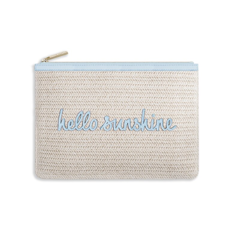 Coco Clutch | Hello Sunshine | Large Straw Clutch | Pale Blue