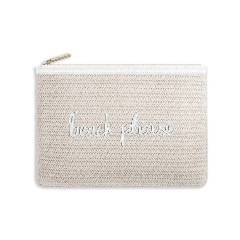 Coco Clutch | Beach Please | Large Straw Clutch | White