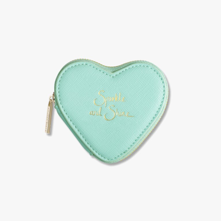 Heart Coin Purse | Sparkle And Shine | Mint