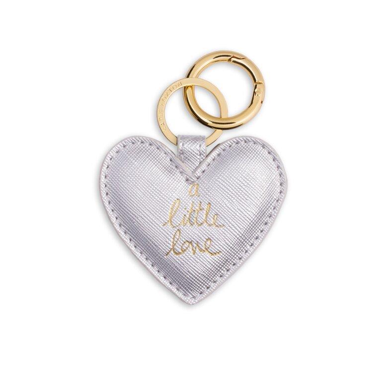 Heart Keyring | a little Love Metallic Silver