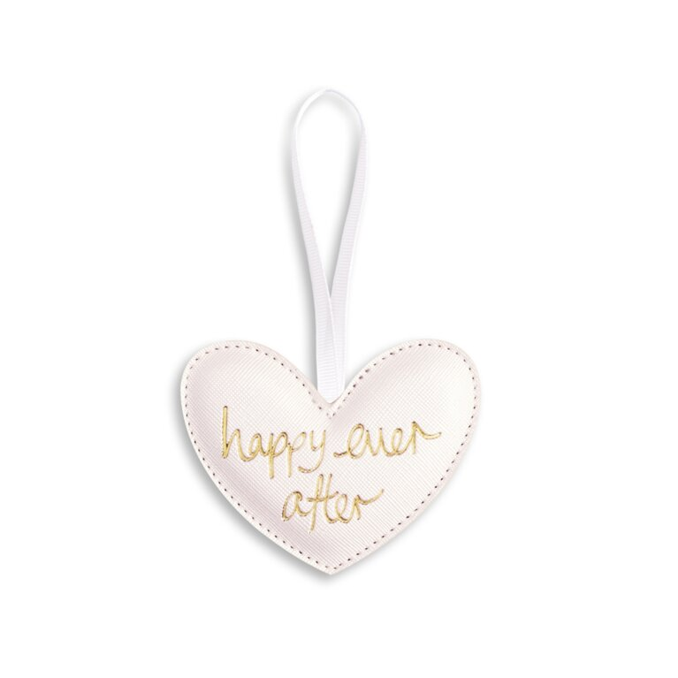 Heart Shaped Decoration | Happy Ever After | Pearlescent White