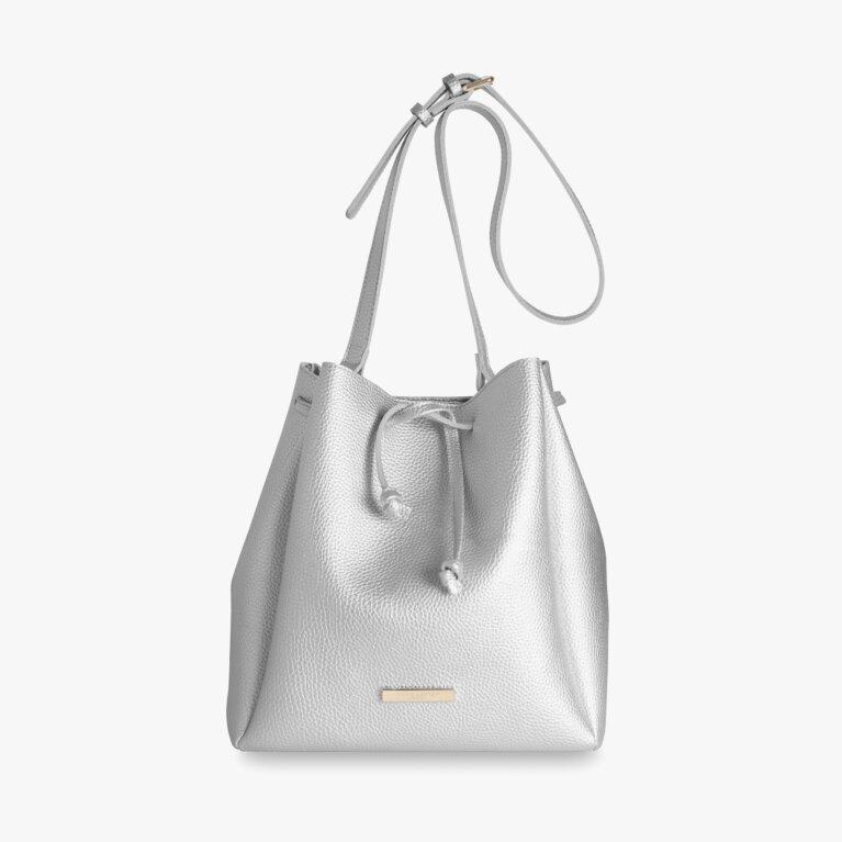Chloe Bucket Bag | Metallic Silver