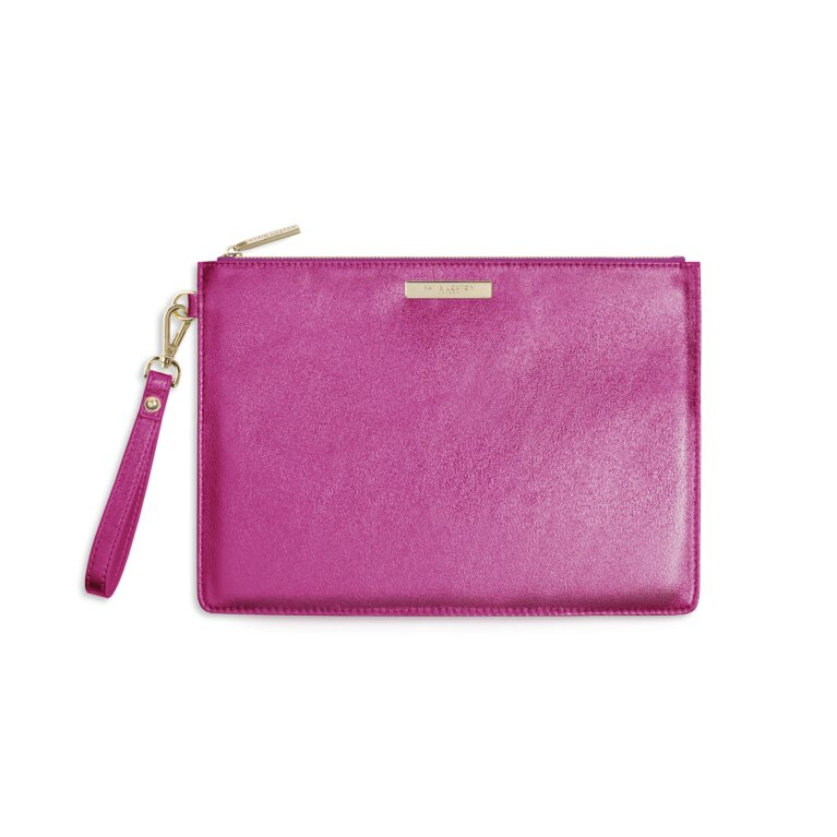 Luxe Clutch | Metallic Pink