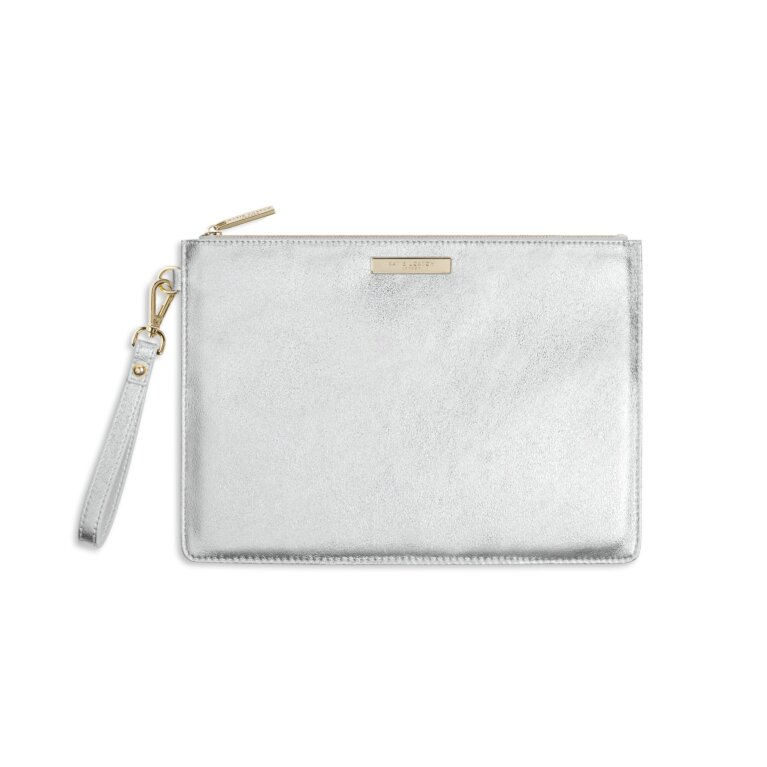 Luxe Clutch | Metallic Silver