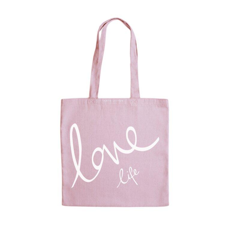 Canvas Bag | Love Life | Pink