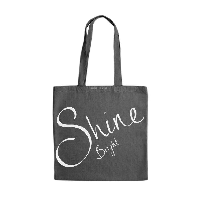 Canvas Bag | Shine Bright | Charcoal Gray