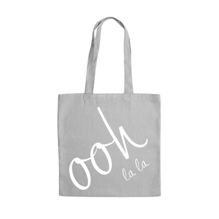 Canvas Bag | Ooh La La | Light Gray
