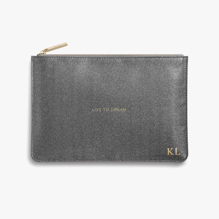 Perfect Pouch Live To Dream In Charcoal