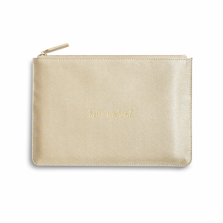 Perfect Pouch | Hello Weekend | Gold Shimmer