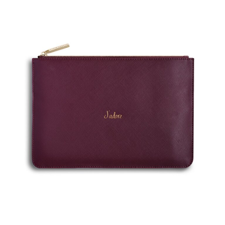 Perfect Pouch | J'Adore | Burgundy
