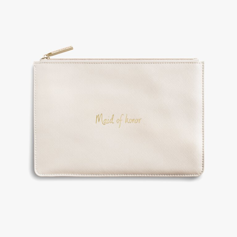 Perfect Pouch | Maid Of Honor | Metallic White