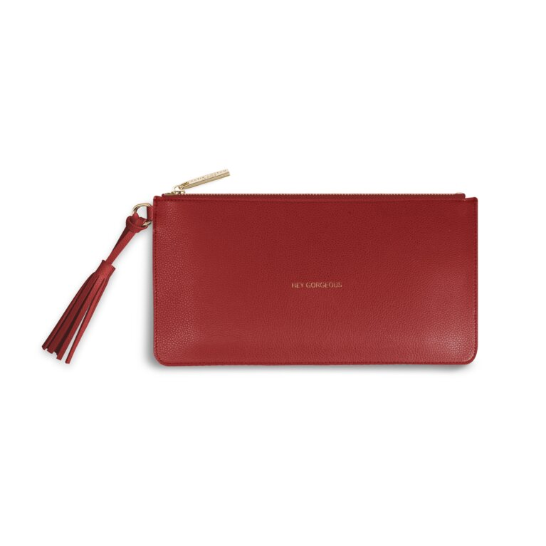 Florrie Tassel Pouch | Hello Gorgeous | Ruby Red