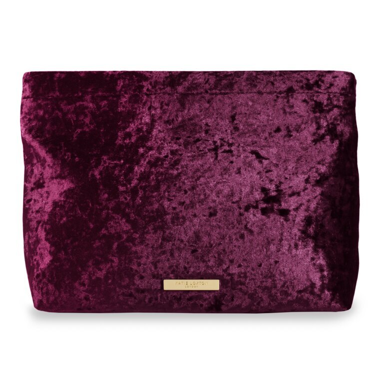 Valentina Velvet Clutch | Crushed Berry