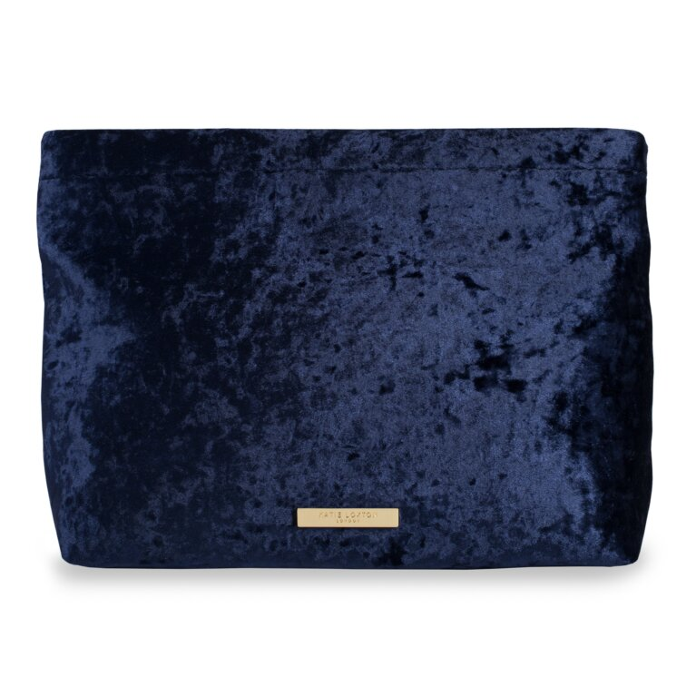Valentina Velvet Clutch | Crushed Sapphire
