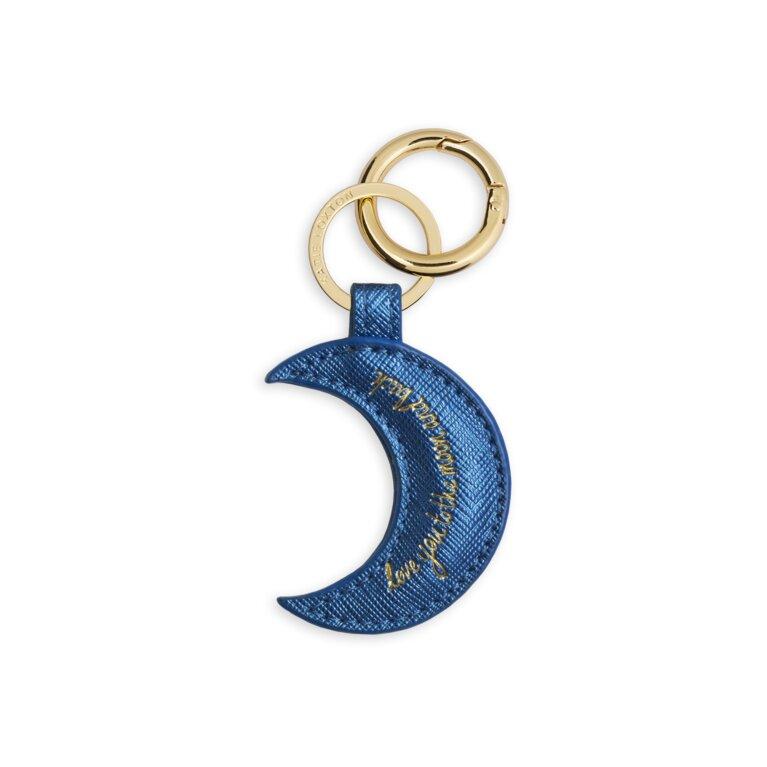 Kara Keyring | Love You To The Moon And Back | Metallic Navy