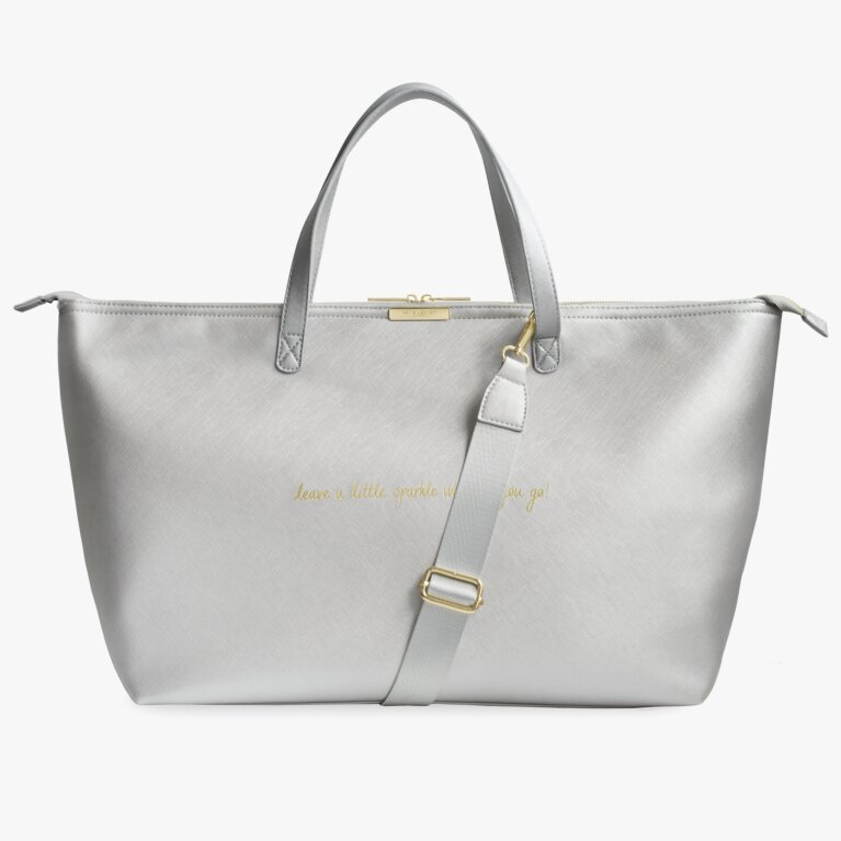 Weekend Bag | Leave A Little Sparkle Wherever You Go | Metallic Silver