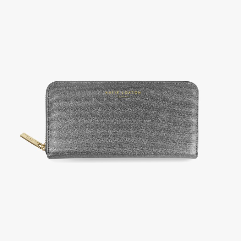 Alexa Purse Large Coin/Card Purse | Charcoal Shimmer