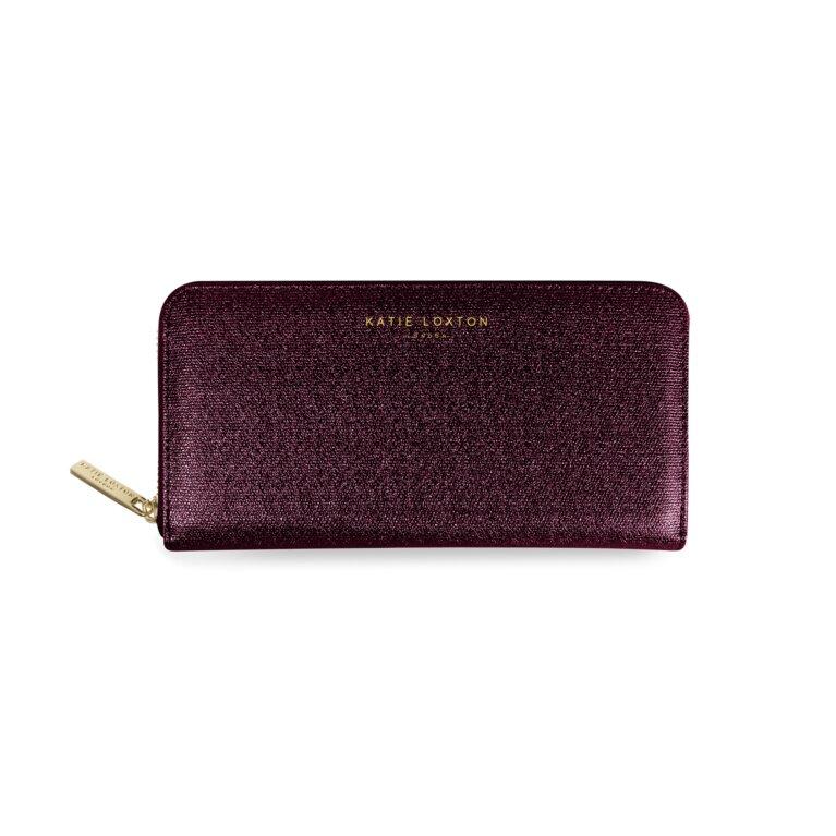 Alexa Purse Large Coin/Card Purse | Burgundy Shimmer
