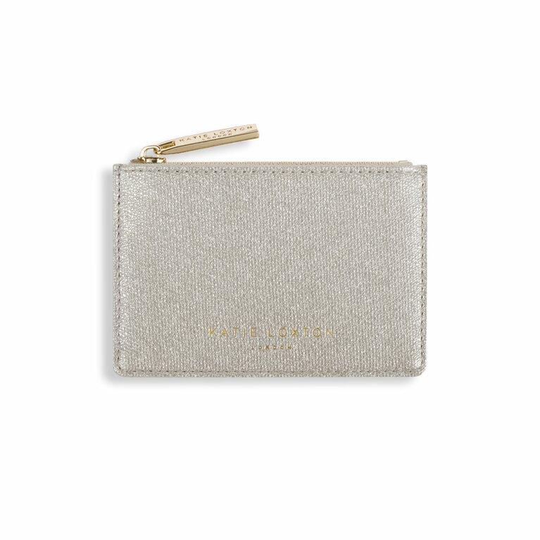 Alexa Metallic Card Holder | Champagne Shimmer