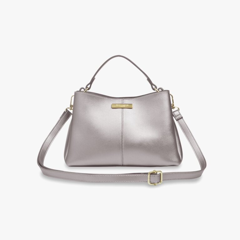 Myla Day Bag | Metallic Charcoal
