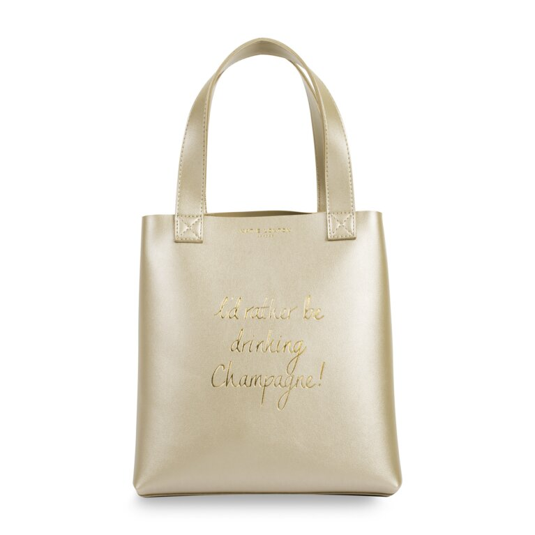 Lunch Bag | Id Rather Be Drinking Champagne | Metallic Gold