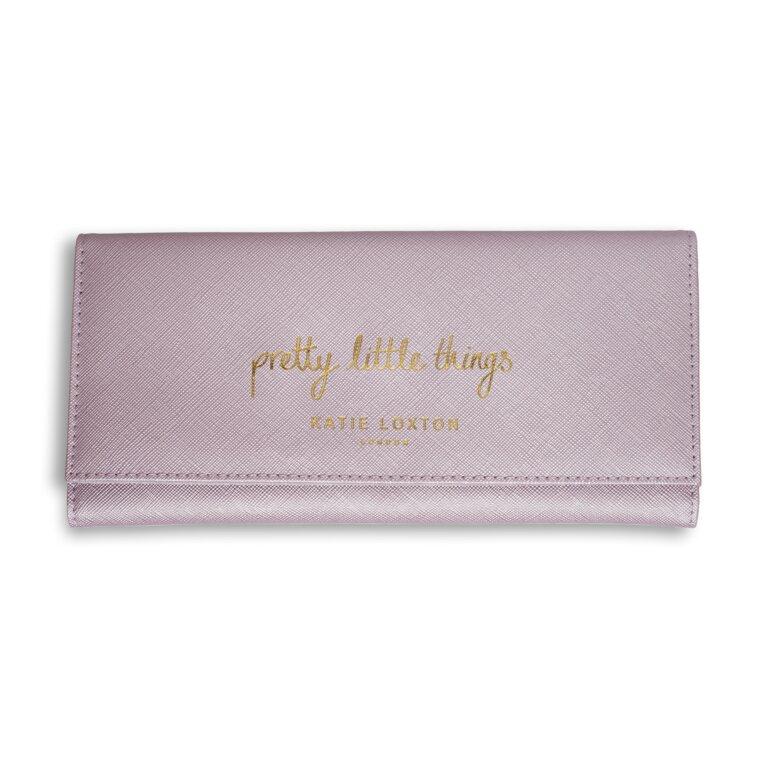 Jewelry Roll | Pretty Little Things | Metallic Pink