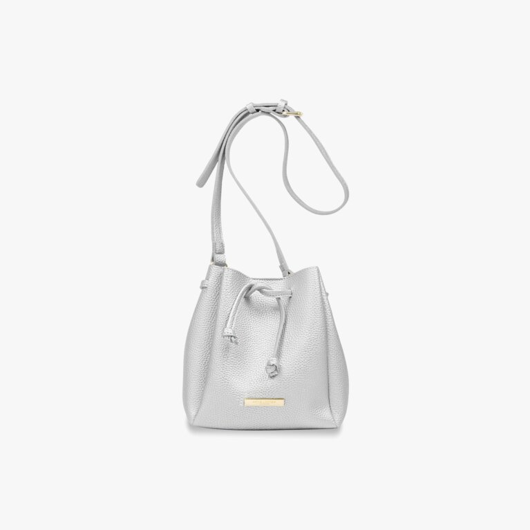 Mini Chloe Bucket Bag | Metallic Silver