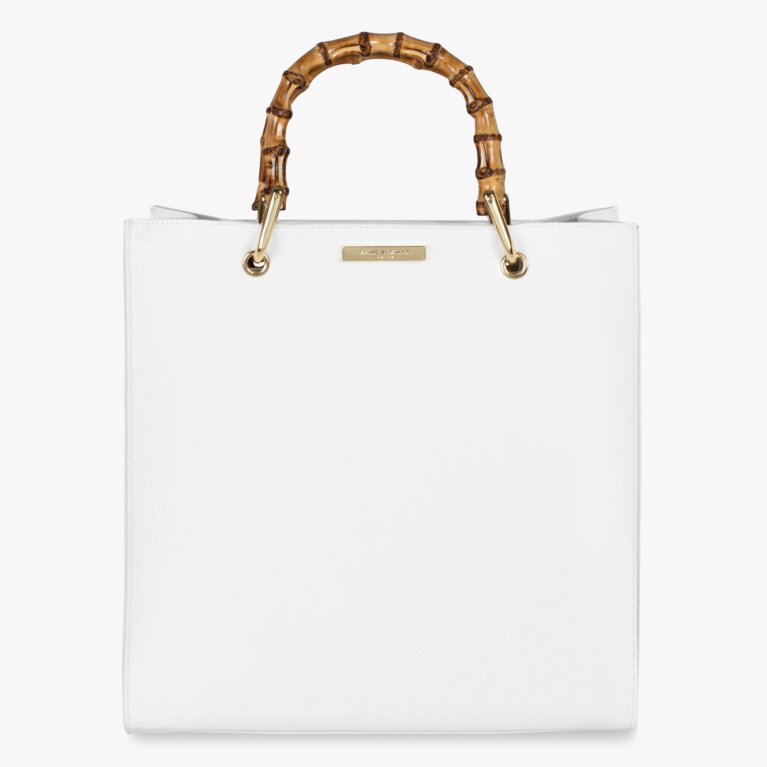 Amelie Bamboo Bag | White