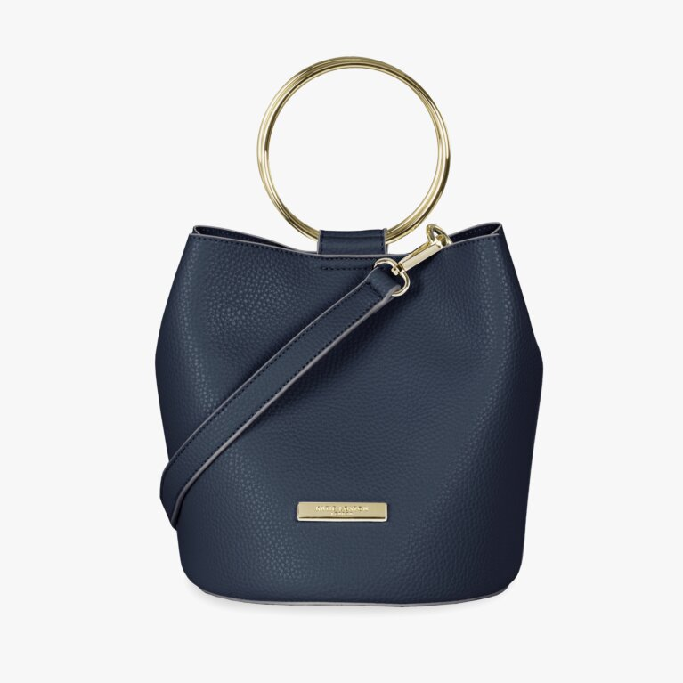 Suki Mini Bucket Bag | Navy