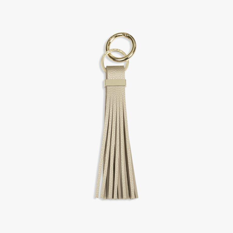 Lora Tassel Keyring | Metallic Gold